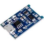 Micro USB 5V 1A LİTYUM BATARYA 18650 PİL ŞARJ + KORUMA + TP4056