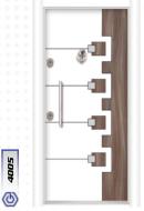 Gebze Çelik Kapı Çift Renk Laminoks4005