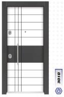 Gebze Çelik Kapı Çift Renk Laminoks3010